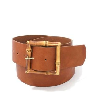 New Bamboo Buckle Faux Leather Belt